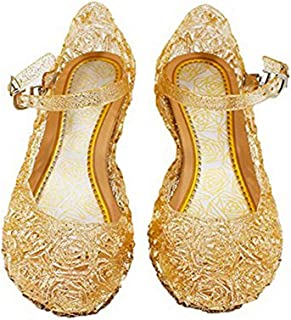 e5c735cc5411 Vokamara Princess Girls Sandals Jelly Mary Jane Dance Party Cosplay Shoes  for Kids Toddler