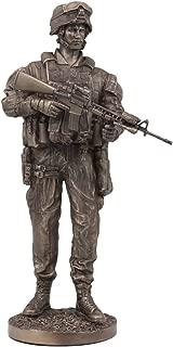 Ebros US Military War Soldier Marine Rifleman On Guard Statue 13.5