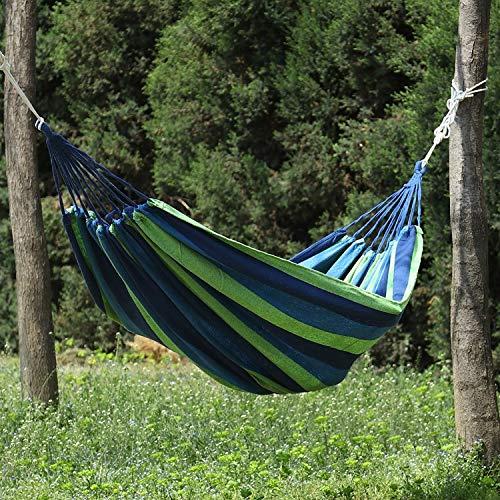 CHUNYU 1 Pieza Hamaca portátil Hamaca al Aire Libre jardín Deportes Viaje Viajes Camping Columpio Hamaca Raya de Lona
