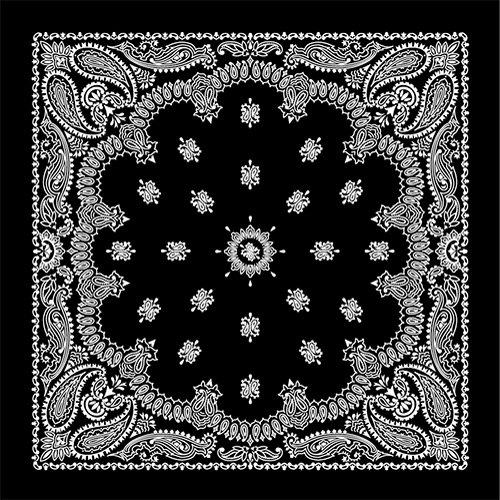 ペイズリー バンダナラグ PAISLEY BANDANNA RUG [ ブラック / 200×200cm ]