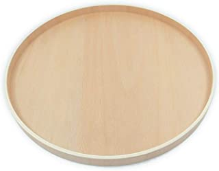 Ann Lee Design Simple Round Rigid Wood Tray (11.8