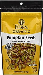 Eden Pumpkin Seeds Dry Roasted Salted, 4.0 OZ (Pack - 6)