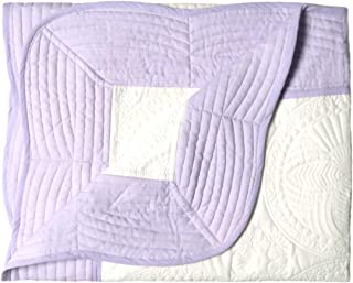 "Oussum Lightweight Cotton Embossed Quilted Baby Toddler Blanket Newborn Winter Sleeping Quilt 38""x48"" (Purple)"