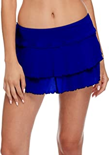 Women's Smoothies Lambada Solid Mesh Cover Up Skirt Swimsuit