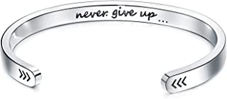 Inspirational Cuff Bracelets Engraved Personalized Mantra Magnetic Therapy Bangle Best Friend Jewelry For Women And Men