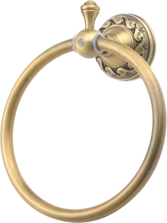 Coshar Towel Ring Antique Manufacturer OFFicial shop Brushed Aluminum Round famous Gold Hol
