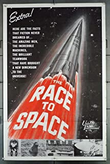 The Race To Space (0) Original One Sheet Poster (27x41) DOCUMENTARY ABOUT THE SPACE RACE SPUTNIK!