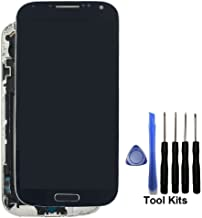 Display Touch Screen Repair Replacement with Frame for Samsung Galaxy S4 SGH- I337 (AT&T)/SGH-M919 (T-Mobile),Free Repair Tool Kits.(Blue+Frame)
