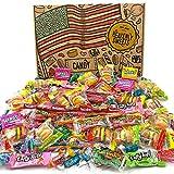 Heavenly Sweets Boite Bonbon Américain - Lot de 120+ Friandises et Chocolats à Offrir pour Pinata Anniversaire, Fête, Noel, Cadeau d'Halloween pour Enfant et Adulte - Boite Cadeau Vintage en Carton