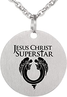 Religious Stainless Steel Lords Prayer Christian God Pendant Necklace Dog Tag Jewelry Keychain