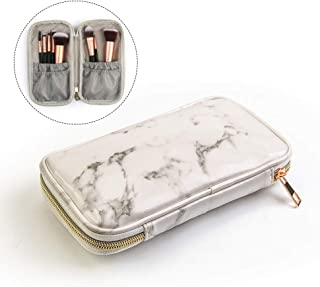 MAANGE メイクポーチ 化粧ポーチ コスメポーチ 大理石柄 小物入れ 機能的 小さめポーチ 化粧品収納 ブラシポーチ通学 旅行 出張用 持ち運びに便利