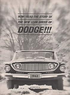 "Magazine Insert/Brochure/Print Ad: 1962 Dodge Dart 440, 225, 318, 361 cu in V-8 engine,""The New Lean Breed of Dodge"""