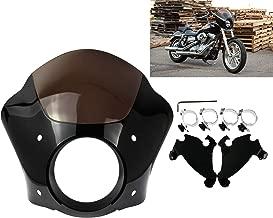 Rebacker Black Headlight Gauntlet Fairing With Trigger Lock Mount For Harley Sportster 1200 883