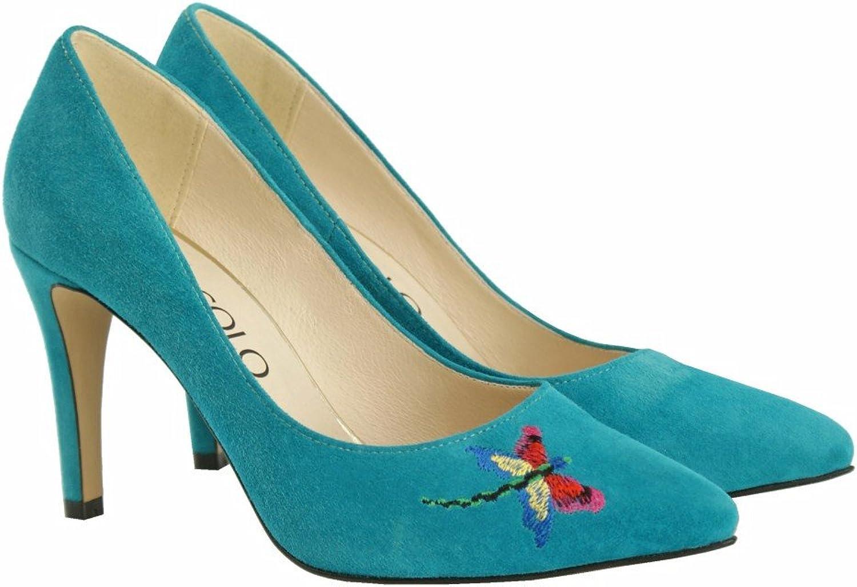BOSCCOLO 4456-57-58 Stilettos, High Heels,Embroidery Heels,Embroidery Stickerei, Leather, Leder, Cuir Veritable  hoher Rabatt