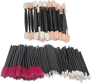 Jaciya 200Pcs Disposable Lip Brushes Eyelash Brushes Dual Sided Eyeshadow Brushes Eyeliner Brushes Makeup Brush Applicator...