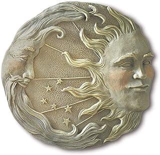 ZiXHiLL Celestial Sun Moon Star Wall Plaque Astral Garden Decor