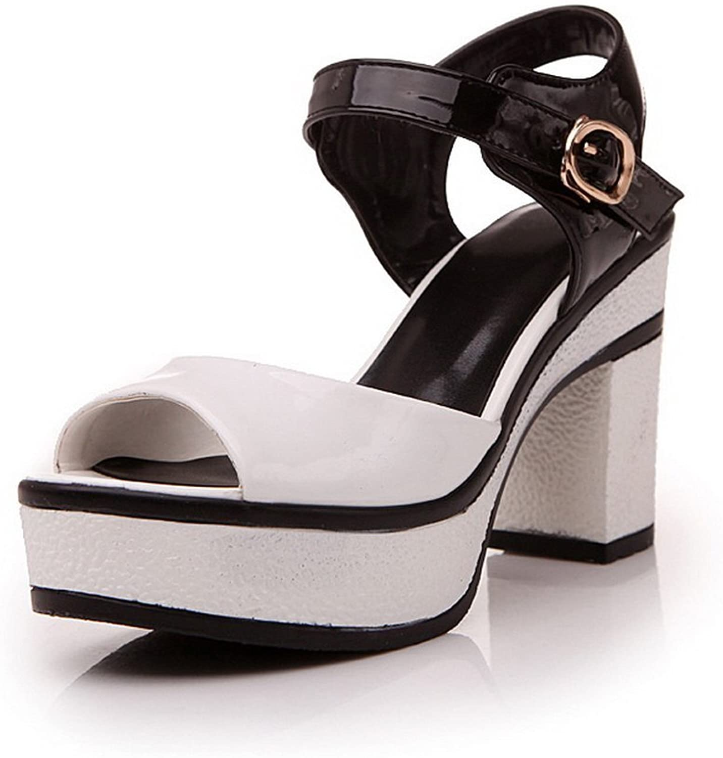 1TO9 Womens Metal Buckles Assorted color White Soft Material Sandals - 7.5 B(M) US