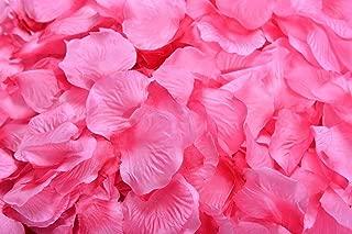La Tartelette Silk Rose Petals Wedding Flower Decoration (4000 Pcs, Hot Pink)