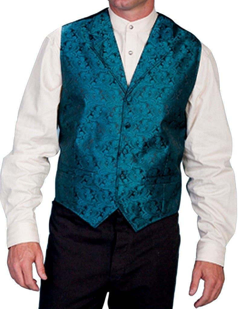 Scully Rangewear Men's Rangewear Paisley Print Vest Big and Tall Teal XX-Large Tall