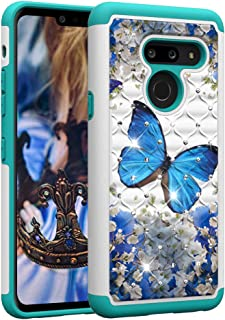 Blu Radoo Cover LG G8S ThinQ Premium Custodia Vintage PU Pelle con Portafoglio Lusso Tasca Stile Unico Sottile Magnetica Funzione TPU Cover a Libro per LG G8S ThinQ