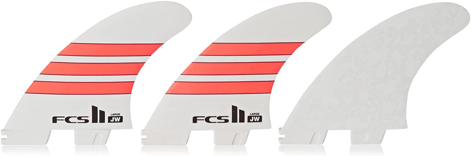 FCS II JW Performance Glass Thruster Fin Large White Red