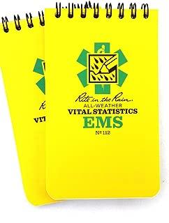2 Pack EMS Vital Statistic Rite in the Rain 3x5 Pocket Notebook