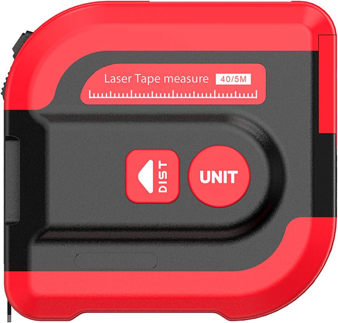 Wacent Dispositivo de medición, medidor de Distancia láser 40M NF-2240 Buscador de Rango 5M Cinta métrica Digital retráctil