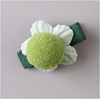 Osize 美しいスタイル 小さな花のヘアクリップ子供のかわいいサイドクリップヘアピンフラワーヘッドドレス(グリーン)