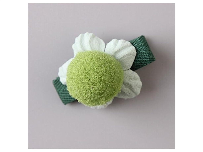 指定する中止します四分円Osize 美しいスタイル 小さな花のヘアクリップ子供のかわいいサイドクリップヘアピンフラワーヘッドドレス(グリーン)