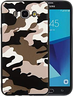 DEVMO Phone Case Compatible with Samsung Galaxy J710 / J7 2016 Camouflage TPU Gel Rubber Cover Case Camo Full Body Protection Shockproof Drop Protection White