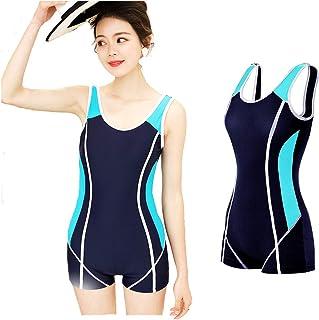 水着 レディース フィットネス水着 タンキニ トレーニング レディース 競泳水着 スイムウェア めくれ防止 水泳服 女性 練習用