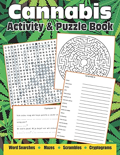 Cannabis Activity And Puzzle Book