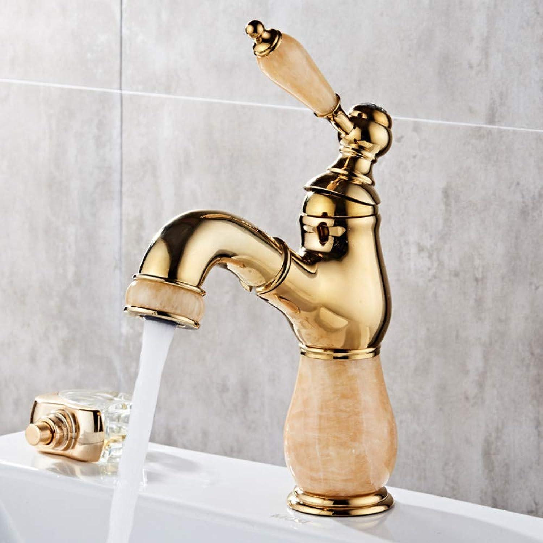 Jade Gold Pull-Washing Waschtischmischer Wasserhahn 1301