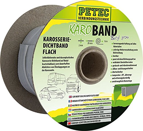 Price comparison product image PETEC Buthyl Sealing Tape 16 mm x 10 m Pin Grey 87520