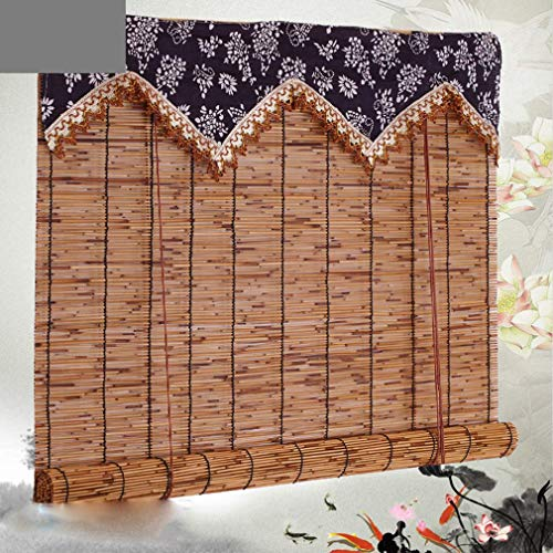 DX Reed Roller Blind/Shades Privacy Window Blinds/Peeled Roll Screen/Garden Screening Fencing, Decorative Curtains for Bedroom Kitchen Indoor and Outdoor
