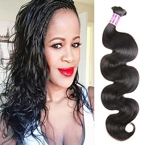 ZSF Hair Brazilian Body Wave Bulk Hair For Braiding No Attachment 3Pcs Human Bulk Hair Mix Length 16'18'20'