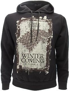 Felpa con Cappuccio Winter IS Coming Stark Serie TV Trono di Spade Game of Thrones - 100% Ufficiale HBO