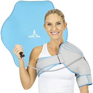 Arctic Flex Cold Shoulder Brace - Ice Pack for Rotator Cuff Support, Tendinitis, Dislocated Joint, Labrum Tear, Frozen Shoulder Pain, Sprain - Right or Left Compression Wrap Strap Band - Men and Women