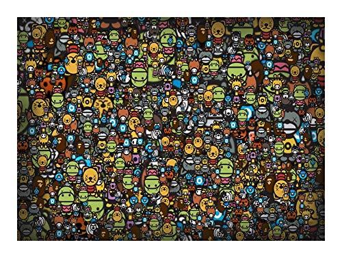 Puzzle Juegos Mundos más difícil Rompecabezas - Dense Personaje de Dibujos Animados 500-5000 Piezas Cada Pieza es única, Piezas encajan Perfectamente (Size : 5000pcs)