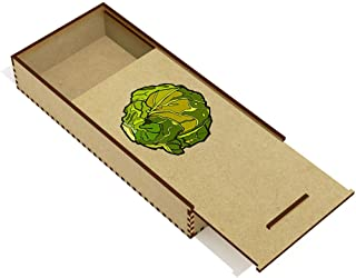 Azeeda 'Brussel Sprout' Wooden Pencil Case / Slide Top Box (PC00019823)