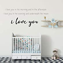 CECILIAPATER Skinamarinky Dinky Dink Song Lyrics 'I Love You' Vinyl Wall Quote | Baby's Nursery or Bedroom Home Decor | Large, Medium and Small