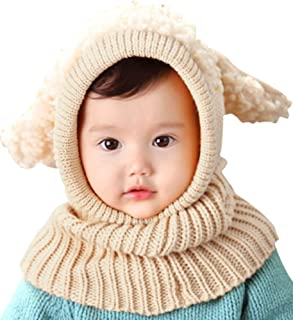 Bienvenu Baby Girls Boys Winter Hat Scarf Earflap Hood Scarves Skull Caps b706329fb730