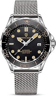Pagani Design Orologio da uomo originale Seamaster, cinturino in acciaio inox con corona a vite e resistente all'acqua fin...