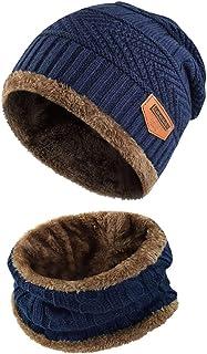 heekpek Berretto Uomo in Maglia per Inverno Caldo Cappello Beanie con Sciarpa Berretto Uomo Beanie Cappelli