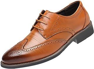 703c41d249941d Soldes Homme Chaussures Richelieu Fauve Large en Cuir,Overdose Mode  Mocassins à Lacets Elégance Mariage