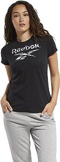 Reebok Women's Te Graphic Tee-stack Logo T-Shirt
