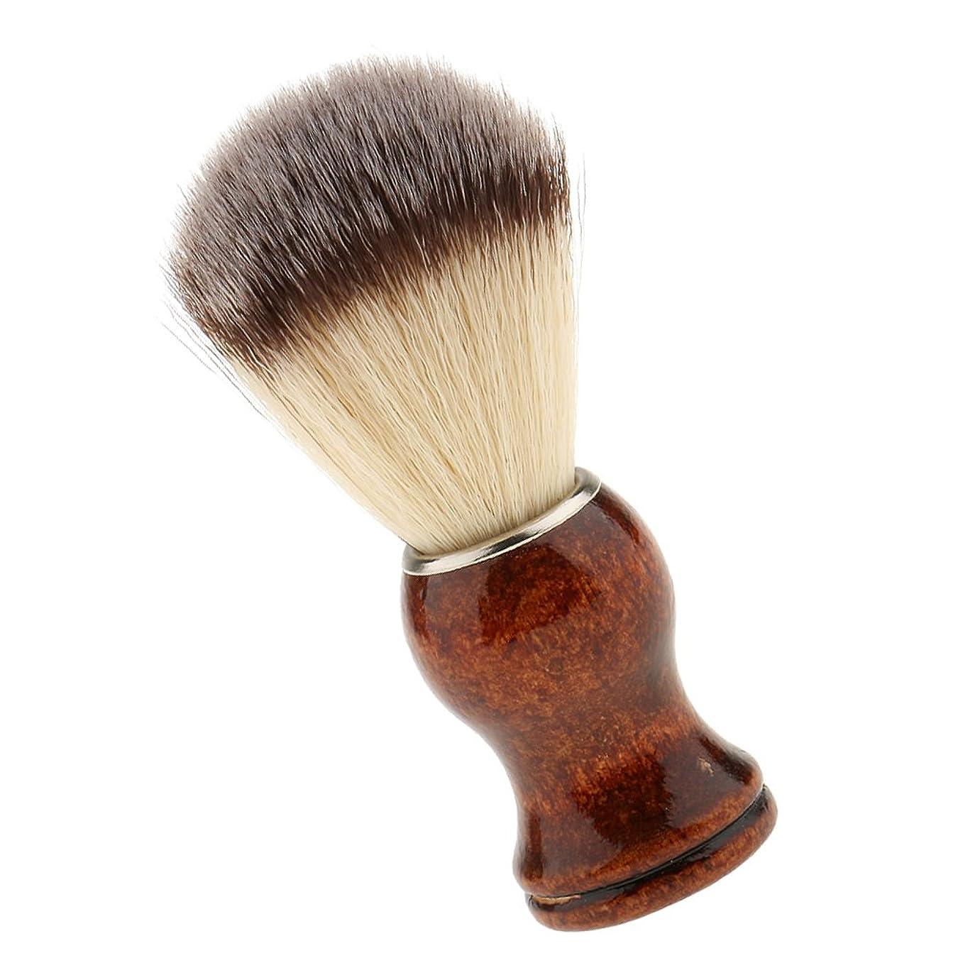 必要とする大腿プロットSONONIA サロン 理髪用 ナイロン シェービングブラシ 首/顔 散髪整理  泡たてやすい ひげブラシ