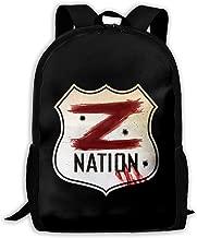 Giacomo Badali Mens Z Nation Vs TWD Logo Unisex Backpack Shoulder Bag School Backpack Travel Bags Laptop Backpack