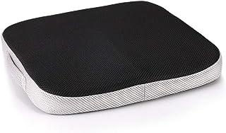 Doifck Memory Foam Seat Cushion Lumbar Back Support Pillow Lumbar Respaldo Almohada Cojín Terapéutico Ortopédico Ergonómico Espuma Memoria Prevención(Cojín del Asiento,Black