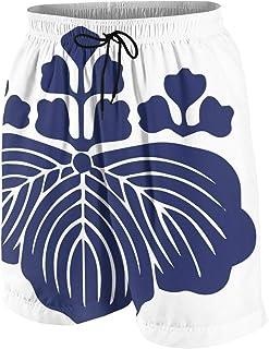男の子 ハーフパンツ 海パン 豊臣家紋 桐紋シャツ 五三の桐 紋章 紺色? ショーツ ゴムウェスト 水陸両用 ビーチパンツ 通気 速乾 水泳 スイミング ウェア 7-20歳が適当